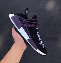 pair of black-and-white Adidas NMD Payson, 85541