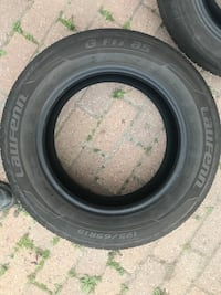 black auto tire with tire Georgetown, L7G 4N1