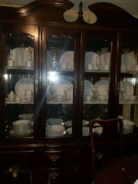 China Cabinet Buffet and Hutch - Cherry