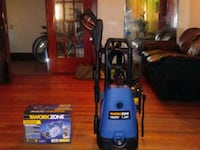 blue and black Bissell upright vacuum cleaner Detroit, 48215