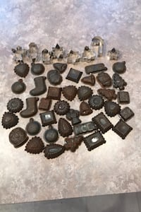 Tin cookie cutters and candy molds. Martinsburg, 25403