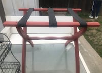 Red Luggage Rack