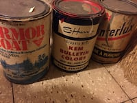 Paint cans vintage designs can for collectors