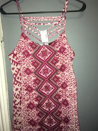 white, red, and green spaghetti strap dress