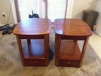 two brown wooden side tables and coffee table. Picayune, 39466