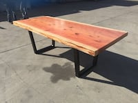 Handmade redwood slab furniture  Antioch