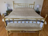 King Size Bed Frame with Bench and Floor Lamp Toronto