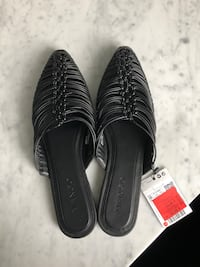 New Slip on black shoes