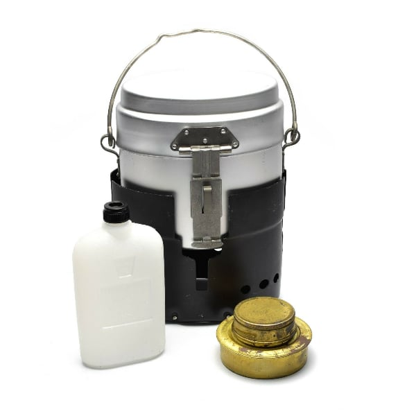 Swedish Army Trangia Stove and Mess kit with Fuel Bottle