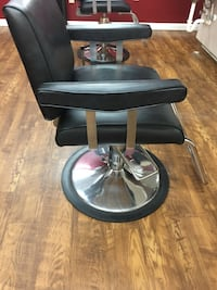 Salon Chairs with hydraulic pumps. Black with silver metal bases.  Jacksonville, 32220