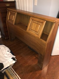 FREE!! Queen headboard - storage + charging outlet. Pick up by 10th. Ashburn, 20147