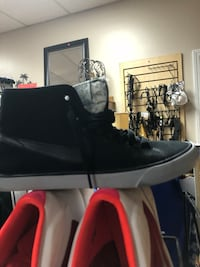 pair of black leather boots Menfis, 38128