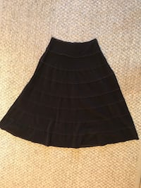 Metro Girl size 8 cotton brown thin corduroy side zip skirt