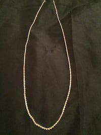 """10K Solid Rope Chain 26"""""""