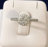 14k white gold Halo diamond engagement ring *Appraised at $3,400