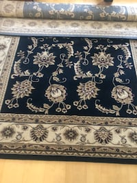 Navy and white floral area rug 8ft x 11ft Vancouver, V5X 2C2