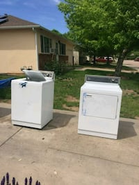 two white clothes washer and dryer Windsor, 80550