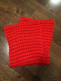 red and black knitted textile Toronto, M2M 4E3