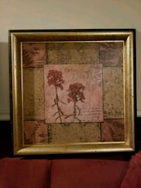 brown wooden framed painting of flowers Morris Plains, 07950