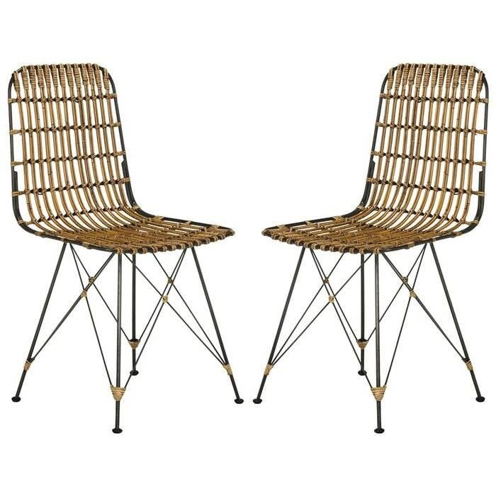 East At Main's Dover Rattan Dining Chairs - Set of 2