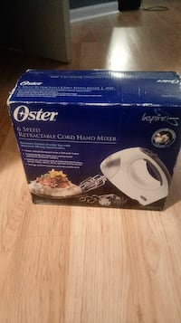 Brand new oster 6 speed retractable cord hand mixe Indianapolis, 46237