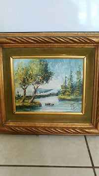 """Painting signed by artist 18"""" x 16"""" Palm Beach Gardens, 33418"""