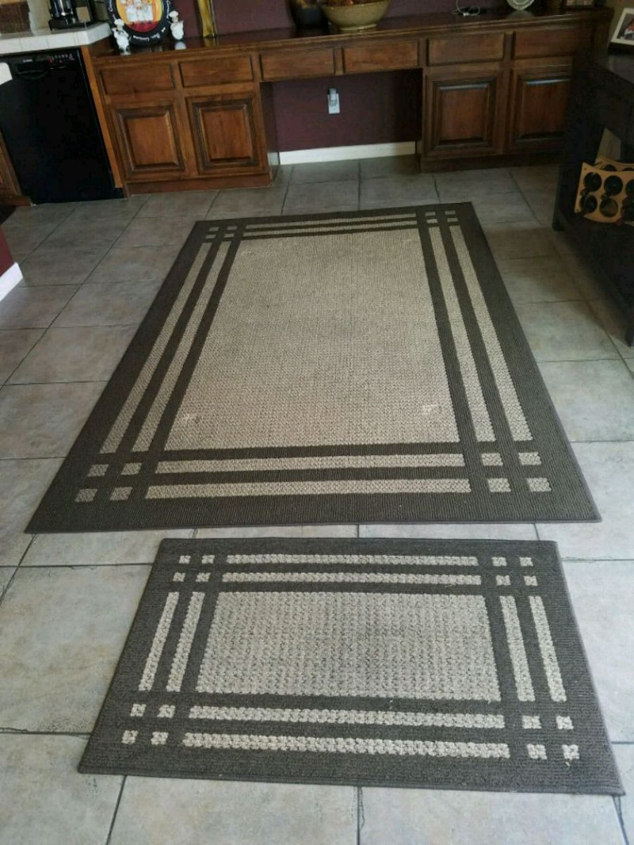 Photo Rug set purchased at lowes 3 months ago.8x5 big rug and 3/12