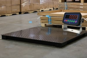 4x4 Floor Scale 10,000 lb with Electronic Display