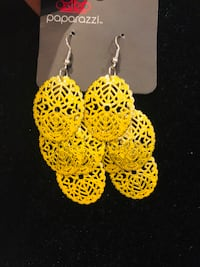 pair of gold-colored earrings Hicksville, 11801