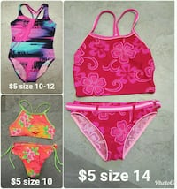Kids swimming suits $5 each Roy