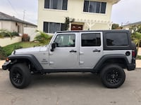 2014 Silver Jeep Wrangler Unlimited Sport 4x4 with Upgrades 2246 mi