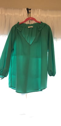 Sheer Turquoise Boutique Top Sz M  Midland, 79707