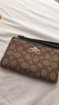 brown monogrammed Coach leather wristlet Lilburn, 30047