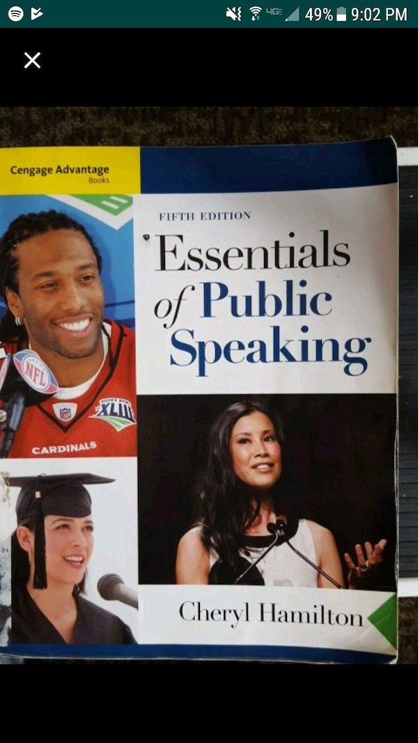 Essentials of Public Speaking by Cheryl Hamilton book screenshot