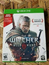 The Witcher Wild Hunt Xbox One game case Tacoma