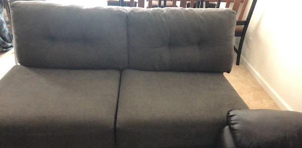 Gray Sofa Bed With Wooden Legs Bought At Macys Radleys 86 Fabric