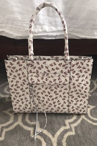 Rebecca Minkoff  medium leather MAB tote white and floral Folsom, 95630
