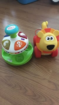 two green and red Fisher-Price learning toys Surrey, V3R 5V8