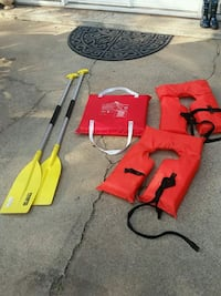 Paddles, 2 life jackets, and a life preserve. Frederick, 21704