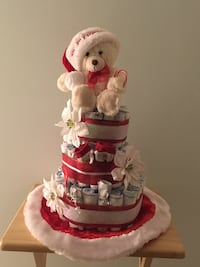 Baby's first Christmas diaper cake