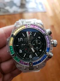 Hublot Rainbow clear case rubber band watch