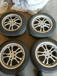 Rims and tires 215 55 R17 Calgary, T3R 0A1