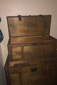 Wood storage chests misc sizes