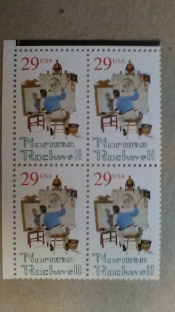 Norman Rockwell 29 Cent 1994 Four Stamp Sheet