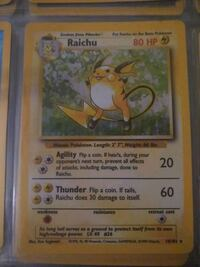 Raichu Pokemon card  Fairfax, 22032