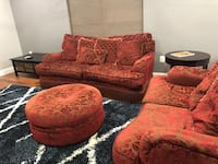Red Cloth 4 Piece Sofa Set Waldorf, 20602