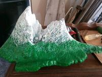 green and white stone fragment