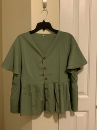Olive Green Blouse Chicago, 60626