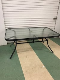 Large metal and glass patio table rectangular shape Charlotte, 28211