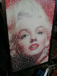 "a painting of Marilyn Monroe made of""quotes from M Richmond, 94801"